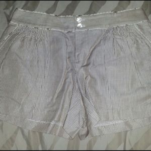 Rebecca Taylor Detailed And Striped Shorts NWOT